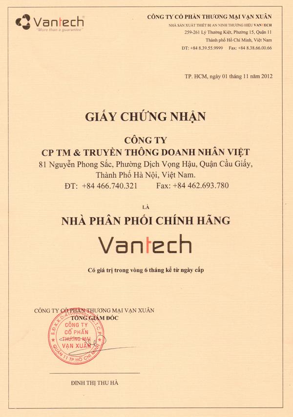Nhà phân phối hàng đầu thương hiệu Vantech