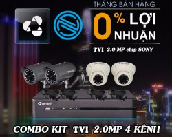 COMBO KIT HDTVI 2.0MP VANTECH CHIP SONY