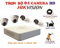 Bộ kit 4 camera HikVision 1.0MP