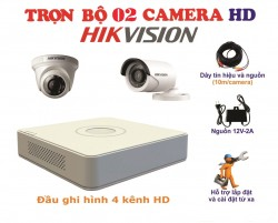 Bộ kit 2 camera HikVision 1.0MP