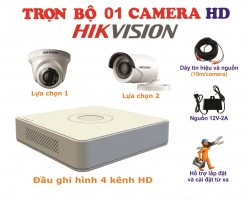 Bộ kit 1 camera HikVision 1.0MP