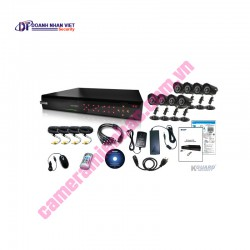 Kguard Exceptional All-in-one Combo Kit CA116.V2-H03 (16CH H.264 DVR with 8 CCD Cameras)