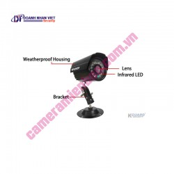 Kguard Exceptional All-in-one Combo Kit CA108.V2-H02 (8CH H.264 DVR with 4 CCD Cameras)