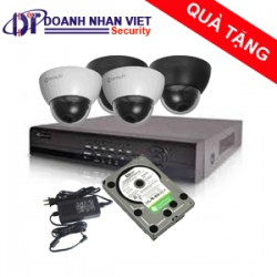 Bộ kit 4 camera Dome